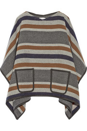 MiH Jeans Striped wool-blend poncho
