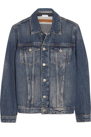 MiH Jeans Wool blend-lined denim jacket