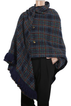 Marc by Marc Jacobs Parker tartan wrap coat
