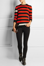 Bella Freud Menace striped knitted sweater