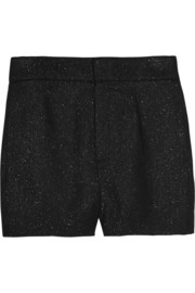 Glittered corduroy shorts