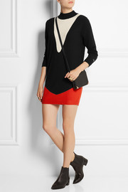 Bella Freud Three Way color-block wool mini dress