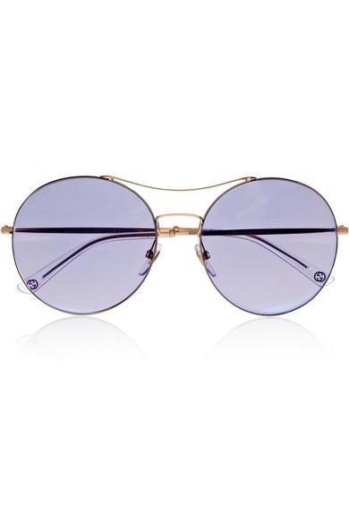 e4cd74037f31 Gucci | Round-frame metal sunglasses | NET-A-PORTER.COM