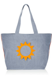 Ioli appliquéd denim tote