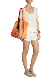 Ioli appliquéd neon canvas tote