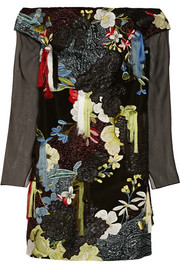 Erdem Juliana embellished silk-blend mini dress