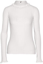 Erdem Atena cutout-back merino wool turtleneck sweater