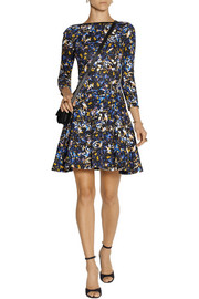 Erdem Vivi printed stretch-cotton mini dress