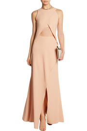 PHILOSOPHY Cutout crepe gown