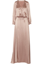 Mason by Michelle Mason Silk wrap-effect maxi dress