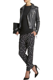 Tibi Star Fields printed crepe track pants