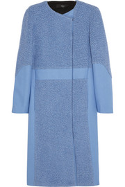 Tibi Paneled wool-blend coat