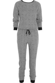 Tibi Chadwick houndstooth wool and cotton-blend jumpsuit