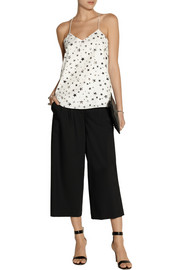 Tibi Star Fields printed crepe de chine camisole