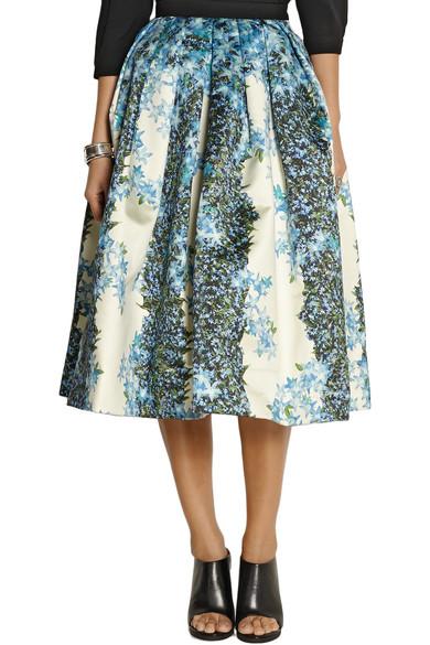 6ca8becb2b Tibi | Sidewalk floral-print silk-gazar midi skirt | NET-A-PORTER.COM