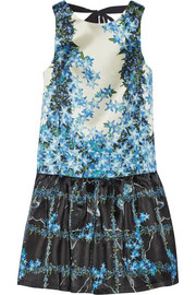 Tibi Sidewalk floral-print silk-gazar mini dress