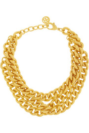 Ben-Amun Gold-plated chain-link necklace