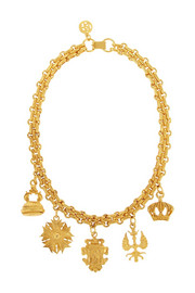 Ben-Amun Gold-plated charm necklace