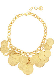 Ben-Amun Gold-plated coin necklace