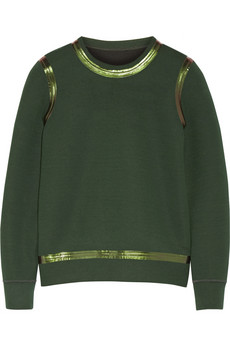 Yow double-faced cotton-blend sweatshirt