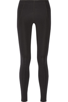 Via high-rise stretch-jersey leggings