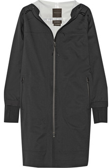 Shadow hooded twill jacket