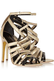 Antonio Berardi + Rupert Sanderson Sonnet holographic leather sandals