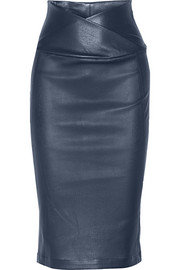 Nebi leather pencil skirt