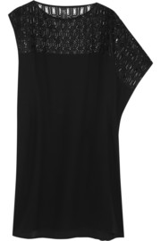 Zero+MariaCornejo Contro crochet-paneled crepe dress