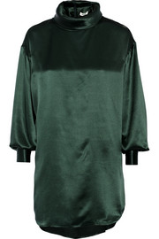 Issa Jenny oversized silk-satin blouse