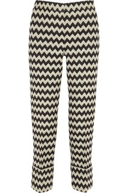 Issa Blanche wool-blend jacquard straight-leg pants
