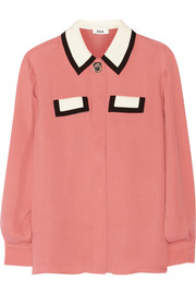 Ruth silk-georgette blouse