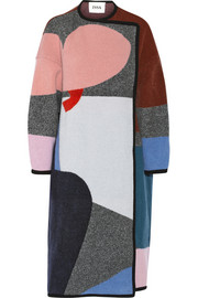 Issa Clemence patterned wool and cashmere-blend coat