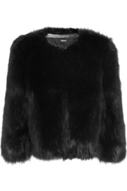 DKNY Cropped faux fur jacket