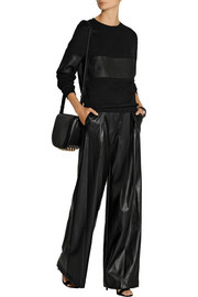 DKNY Faux leather wide-leg pants