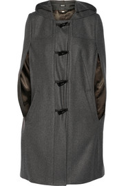 DKNY Hooded wool-blend cape