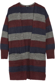 DKNY Oversized striped knitted cardigan