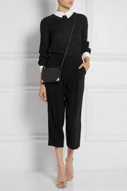 DKNY Contrast-trimmed crepe top
