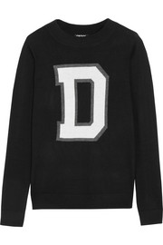 DKNY Intarsia fine-knit sweater