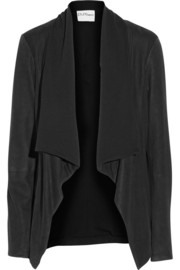 DKNY DKNYpure brushed-leather and jersey jacket