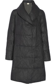 DKNY DKNYpure quilted wool-flannel coat