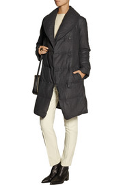 DKNYpure quilted wool-flannel coat