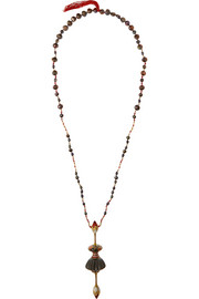 Alice Cicolini 22-karat gold multi-stone necklace
