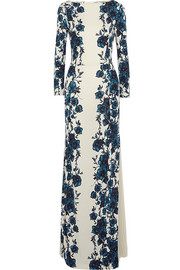 Tory Burch Stacy floral-print jersey maxi dress
