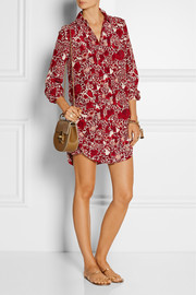 Tory Burch Cora printed silk crepe de chine mini dress