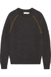 Tory Burch Trudy embellished wool sweater