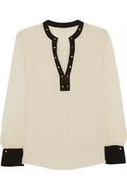 Tory Burch Kiera silk-georgette top