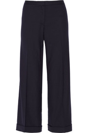 Tory Burch Fern stretch-wool crepe culottes