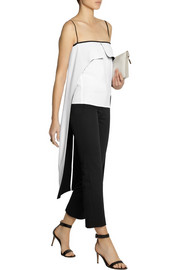 Atto Layered two-tone crepe top