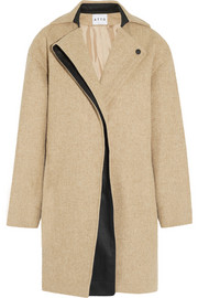 Atto Folded-front wool coat